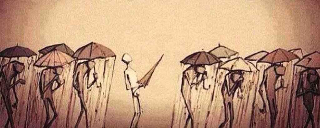 Szczęście jest tu i teraz. Zamknij ten cholerny, umysłowy parasol.